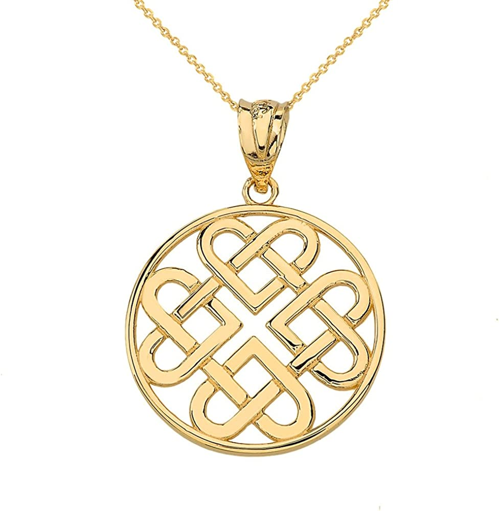 Women's Max 89% OFF 14k Yellow Max 63% OFF Gold Endless Infinity Celtic Knot Penda Heart