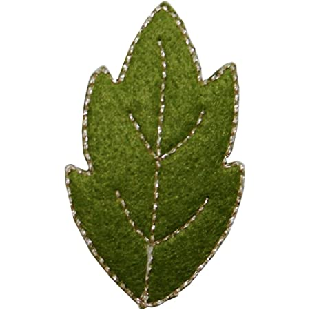 ID 7214 Lot of 3 Felt Green Leaf Patch Tree Nature Embroidered Iron On Applique
