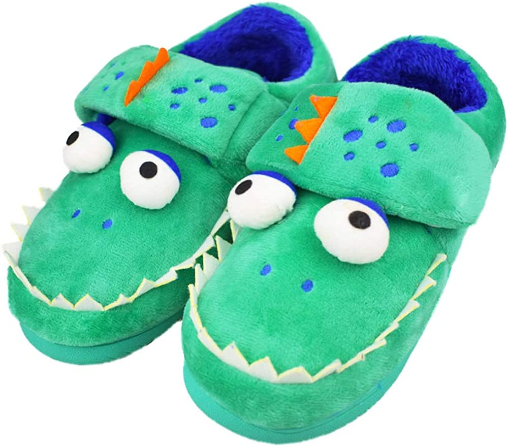 Large special price Tirzrro Boys Ranking TOP14 Little Big Kids Warm with Memo Shark Plush Slippers