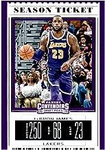 2019-20 Panini Contenders Draft Picks Season Ticket Variation #38 LeBron James Los Angeles Lakers Basketball NBA