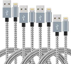 IDiSON 4Pack(3ft 6ft 6ft 10ft) iPhone Lightning Cable Apple MFi Certified Braided Nylon Fast Charger Cable Compatible iPho...