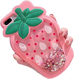 iPhone 6 Plus Case, Cute 3D Soft Feeling Silicone Cover Case for Apple iPhone 6 Plus / 6s Plus Unique Creative Phone Case for Kids Teens Girls Boys (Strawberry Pink)