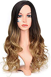 Nishore High-temperature Synthetic Fiber Gradient Wigs for The Big Curve Natural Side Bangs Matte Hairpiece