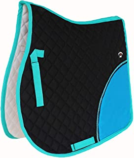 CHALLENGER Horse Quilted English Saddle PAD Trail Cotton All Purpose Black 7294