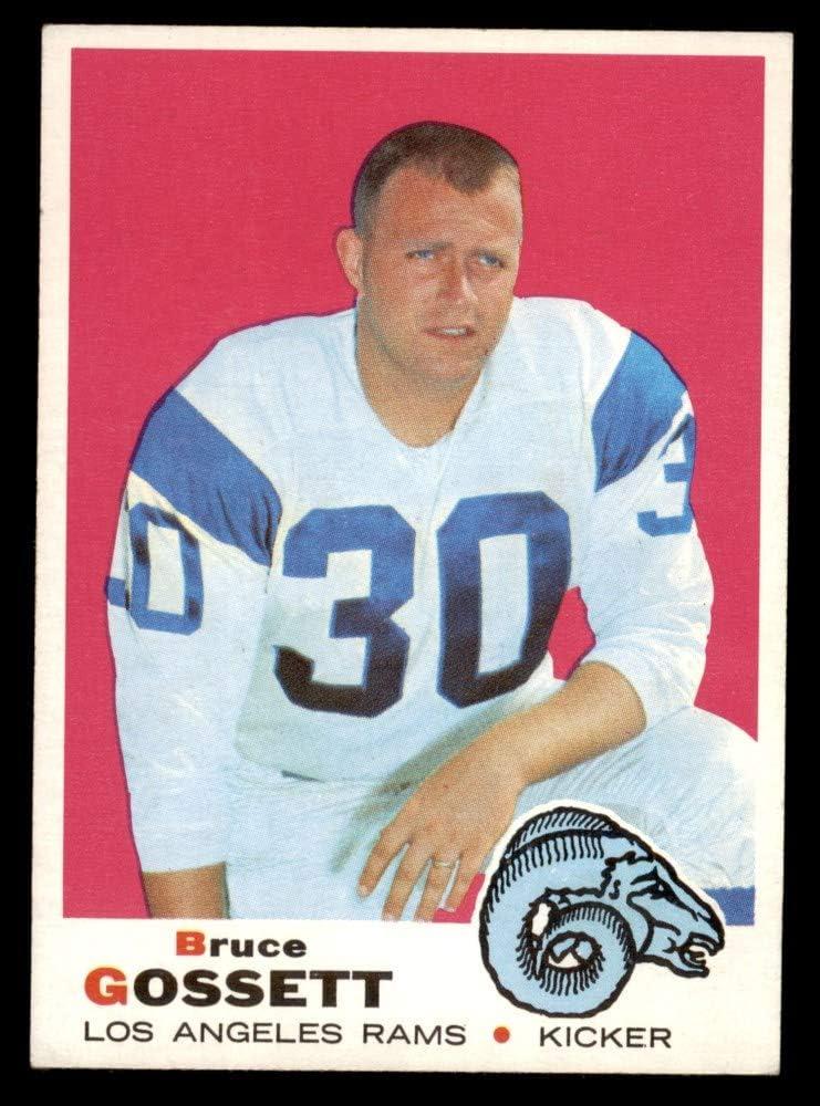 1969 Selling Topps # 194 Bruce Gossett List price Football Los Angeles Card Rams