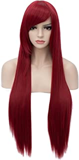Aosler Wine Red Long Wig,32