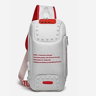 Casual Sling Bag, Mochila de Hombro Bolsas de Hombro Impermeable Crossbody Bolsa Sling Pecho Bolsas, Hombres Sport Fitness...