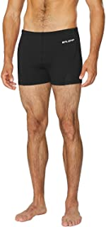 BALEAF Men's Square Leg Athletic Swim Jammers Durable Training Splice Swimsuit