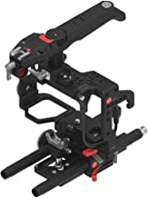 JTZ DP30 Camera Cage Stabilizer with 15mm Rail Rod Base plate + Electronic Top Handle with Cold Shoe Mount for SONY A7 A7II A7R A7RII A7S A7SII Mirrorless Camera,Support Focus,Zoom and REC Start/Stop