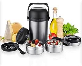 KAAVE Thermobehälter Warmhaltebox bigJar 1,8 L | Hochwertiger Isolierbehälter Box für Warme Speisen, Babynahrung, Essen, Suppe - Inkl. 3 Boxen & Löffel