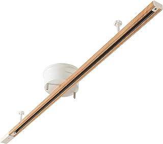 共同照明 配線ダクトレール ライティングダクトレール ナチュラル GT-DJ-GDW-2 ライティングバー 1m 引っ掛けシーリング用 スポットライト 天井照明 照明器具 簡易取付 インテリア おしゃれ レール照明
