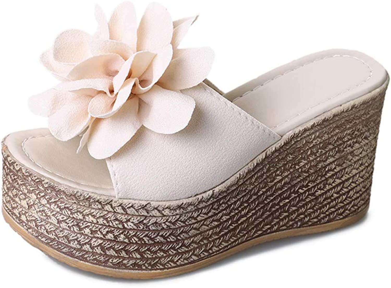 Summer Women Slippers Flowers Platform shoes Woman Beach shoes Ladies Slides Comfortable High Heel