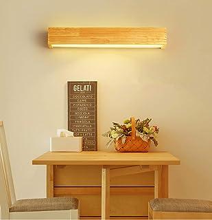 HBVAN LED Aplique Pared Interior Lámpara de Pared LED Bañadores de pared Madera Luces de pared para sala de estar Dormitorio Escalera Pasillo (55cm)