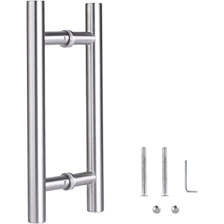 "VRSS 304 Stainless Steel Commercial H-Shape/ Ladder Style Back to Back Push Pull Door Handle (12"" Length/1"" Diamter)"