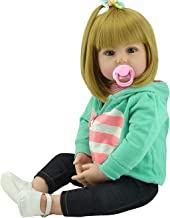 NPK Realistic Reborn Toddlers Dolls Girls Blond Hair Look Real Soft Vinyl Toddler Dolls Silicone 24 Inches with Clothes