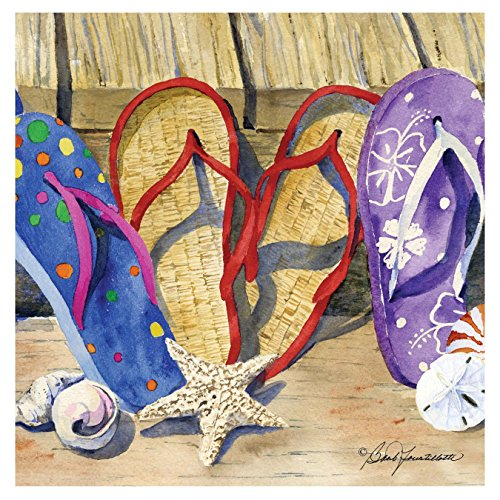 Thirstystone Occasions Coaster, Flip Flop Line-Up, Multicolor