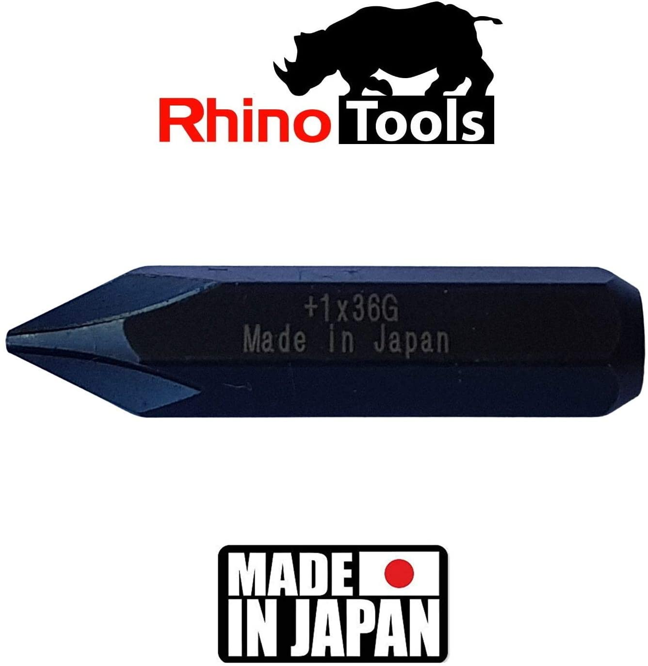 5//16 JIS Impact Screwdriver Bits +1 +2 +3 +4-10 Made in Japan 36mm long