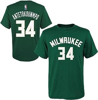 Giannis Antetokounmpo Milwaukee Bucks #34 NBA Youth Player Name & Number T-Shirt, Green