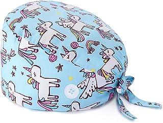 قبعة عمل بتصميم لطيف من نسيج القطن للرجال والنساء من مع زر سوار قابل للتعديل برباط خلفي من مايراليس
