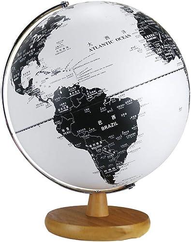 HAOLIN Globe Lampe Beleuchteter Globus Mit Holzsockel Modern World Globe-für Büro- Und Heimdekoration,32CM