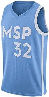 Jersey Baloncesto Karl-Anthony Towns # 32 Camiseta De Baloncesto, De Malla Transpirable De Secado Rápido De Tela, Bordado Deportes Camiseta Sin Mangas S-XXL