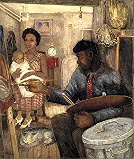 The Janitor Who Paints : Palmer Hayden : Circa 1930 : Art Print