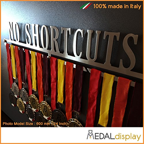 MEDALdisplay No Shortcuts Medaillettenhouder/wandplank Medal Hanger