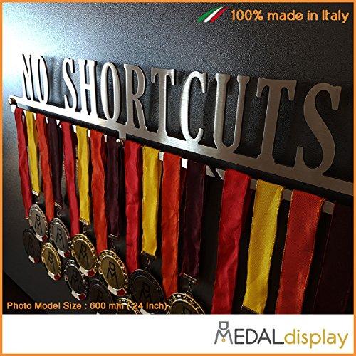 MEDALdisplay No Shortcuts Medaillettenhouder/wandplank Medal Hanger