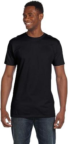 Hanes 4980 Lot de 2 t-Shirts Nano pour Hommes 1 Noir + 1 Ice gris S
