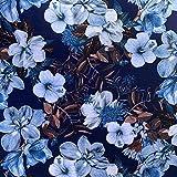 Luna Stoff mit Blumenmuster, Digitaldruck, 100 %