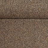 Swafing Tweed Camilla Fischgrät braun 50 x 150 cm