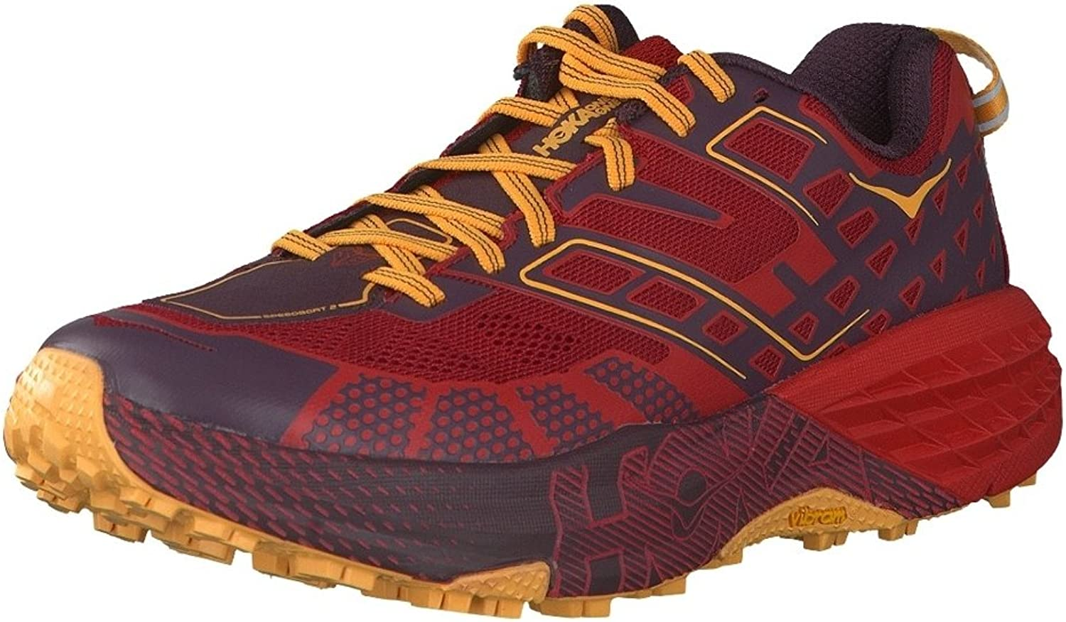 HOKA ONE ONE SPEEDGOAT 2 ROUGE Chaussures de trail