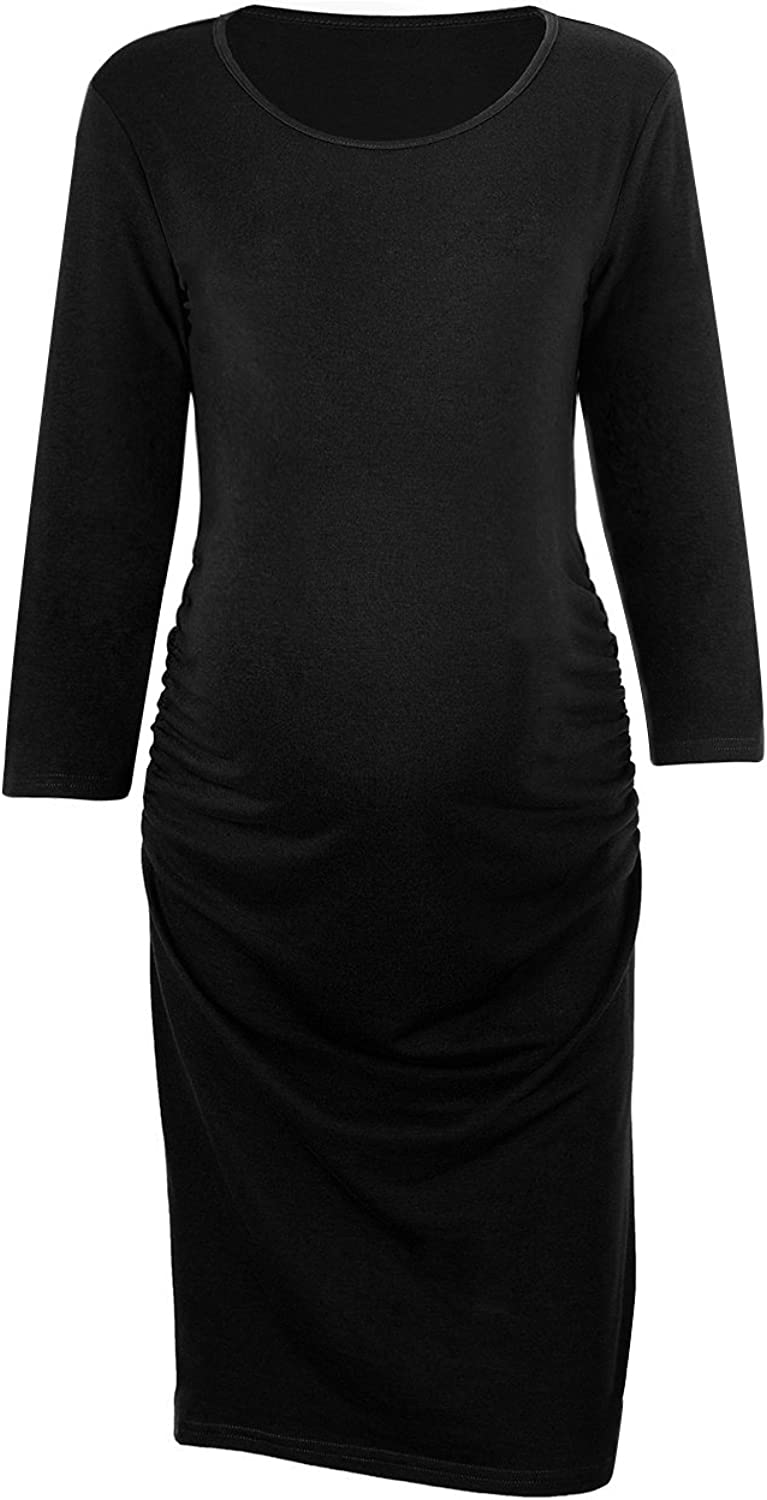 Akivide Women's Casual Maternity Dress with 3 4 Sleeve