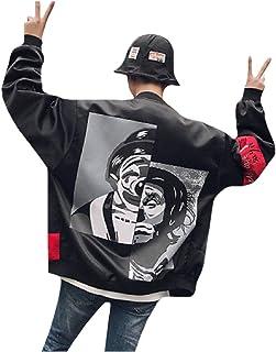SWIT/&W94 Breast Cancer Awareness Mens Back Print Jacket Baseball Jacket Uniform