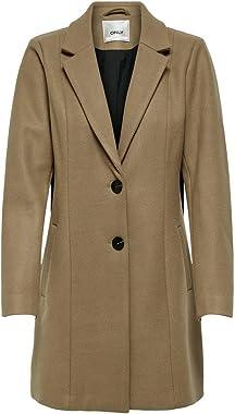 ONLY Onlcarmen Wool Coat CC OTW Manteau de Laine Femme