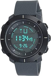 SKMEI Digital Black Dial & Grey Strap Men's Watch 1213 Grey
