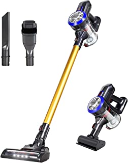 Dibea D18 Lightweight Cordless Stick Vacuum Cleaner, 9000pa Powerful Suction Bagless Rechargeable 2 in 1 Handheld Car Vacu...