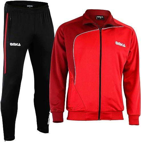 OMKA Training Pantalon SurvêteHommest Jogging Pantalon de Costume Rouge