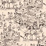 Cremefarbener Alexander Henry Stoff Cowboy Skelett Taverne
