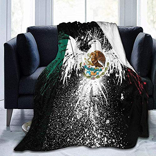 XZHYMJManta de, Manta de águila de México, Manta de Tiro Plegable, Manta de sofá Lavable, Manta de Felpa Reversible, Manta de Playa