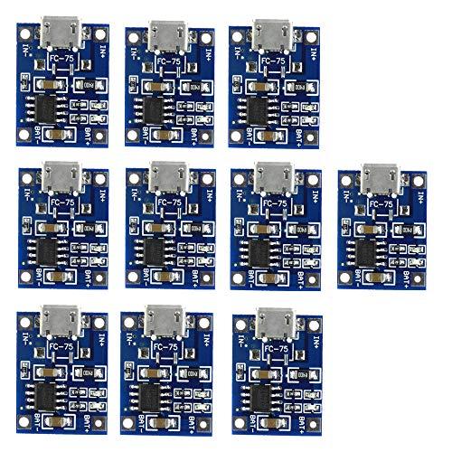 Micro USB TP4056 Lithium Batterie Aufladen Board 10 Stück Lithium-Akku Power Ladegerät Board Charger Board Akkuladegerät Modul