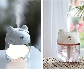 Jia Xing USB Air Sprayer Humidifier Three in One Mini Mute Office Desktop Portable Small Fan Cute Cat Claw Cup Car Humidifier humidifiers (Color : White)