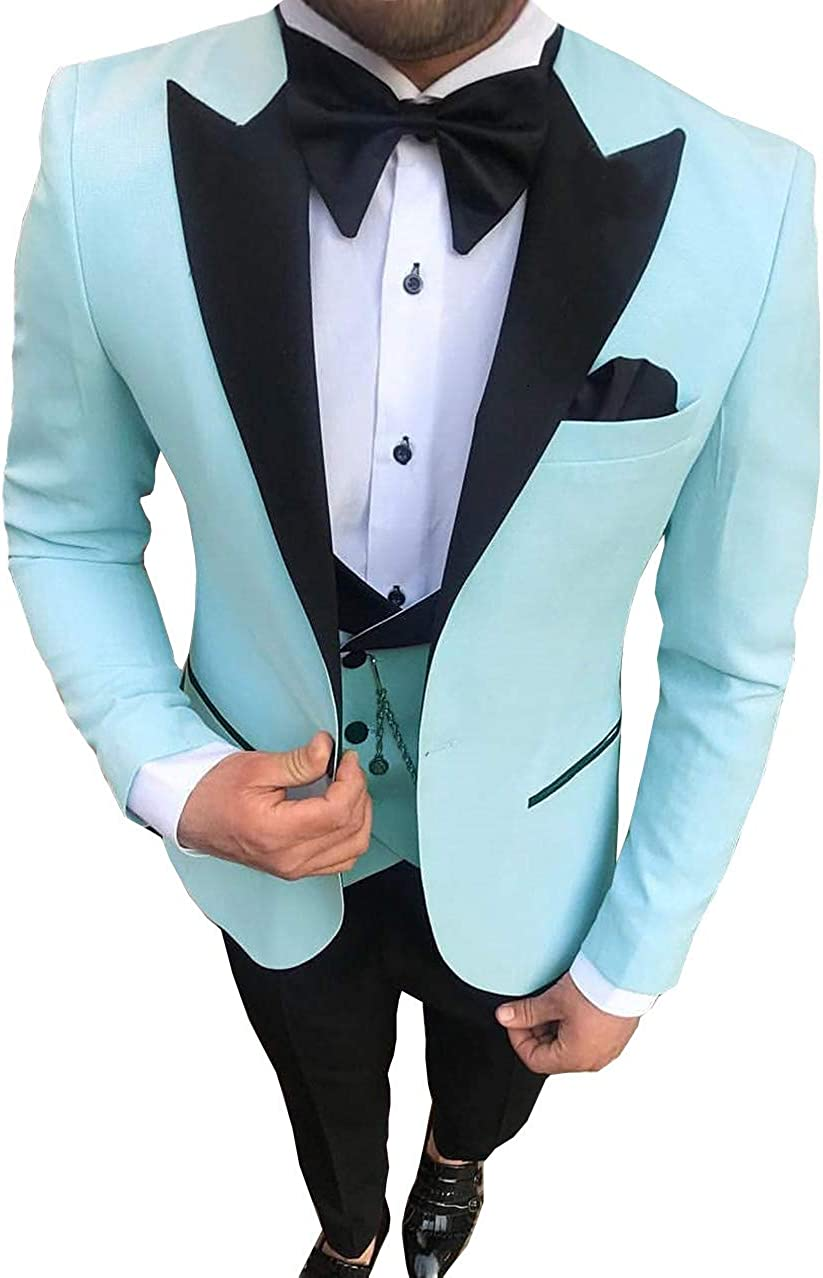 San Diego Mall Aesido Men's Casual Suits Slim Fit Notch Prom Lapel Tuxe Piece Sales results No. 1 3