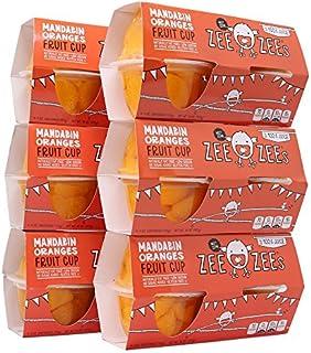 Zee Zees Mandarin Orange Fruit Cup, in 100% Juice, No Sugar Added, Gluten Free, 4 oz Cups, 24 pack