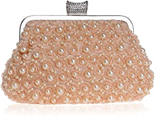 Fashion Ladies Banquet Bag Dress Hand Evening Bag Beaded Evening Bag (Color : Champagne, Size : XS)