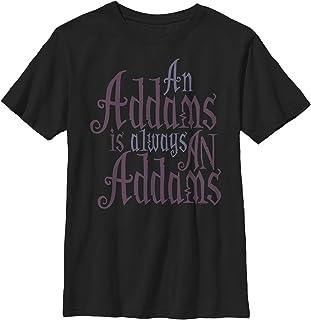 Boy`s Addams Family Always an Addams Motto T-Shirt