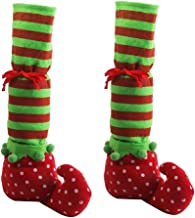 PIXNOR One Pair Elf Legs Christmas Table Leg Covers