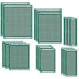 Paxcoo 17 Pcs Double Sided PCB Board Prototype Kit for DIY, 6 Sizes...
