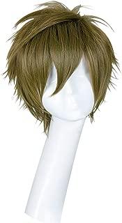 Cfalaicos Free! Makoto Tachibana Short Dark Green Cosplay Hair Full Wigs
