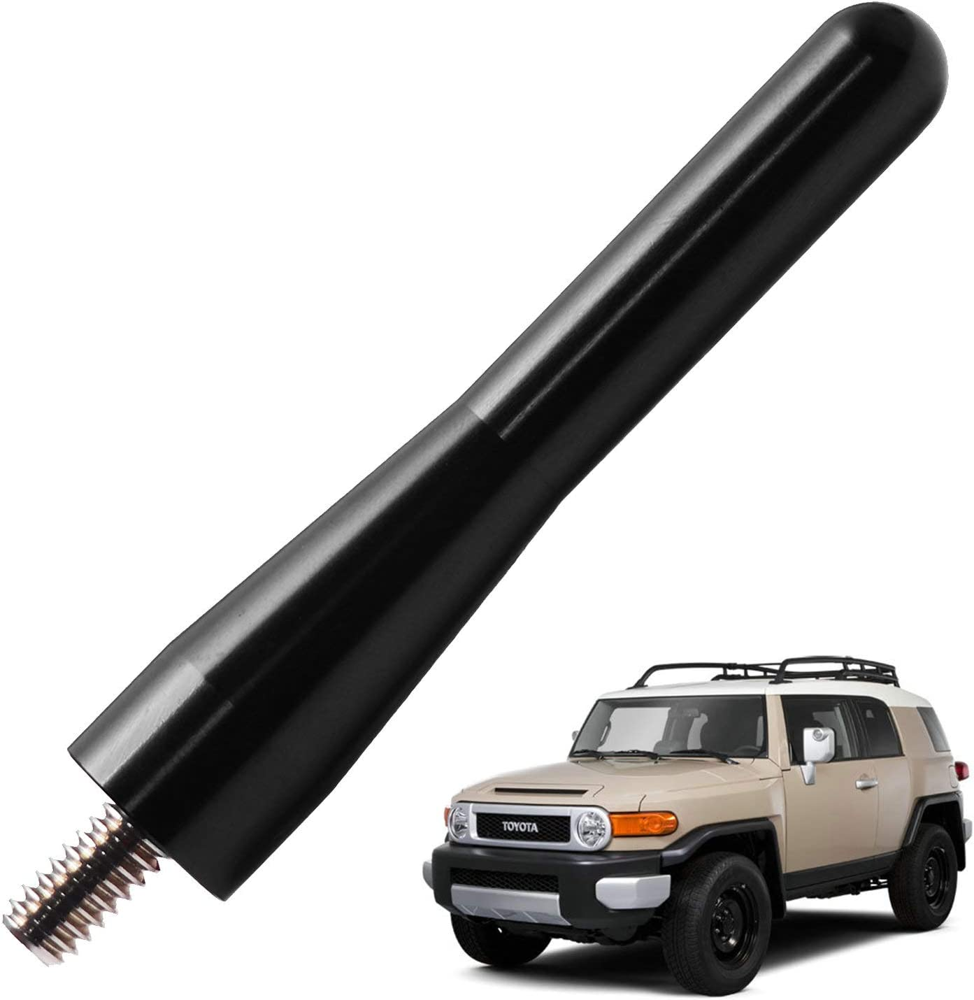 JAPower Replacement Antenna Compatible with BMW 3 Series Convertible 1991-2006 3.2 inches-Black